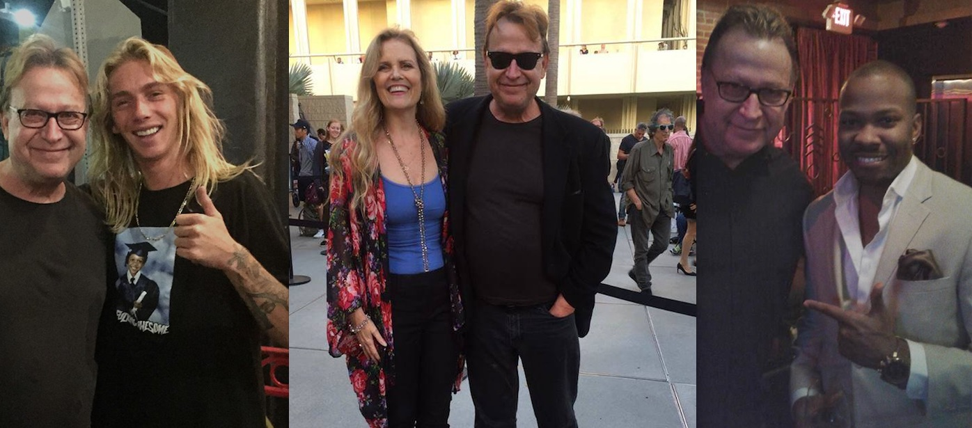 Rob Mullins with friends in Venice, Hollywood, and North Hollywood in 2017